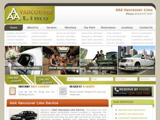 Vancouver Wedding Limo Rental Service